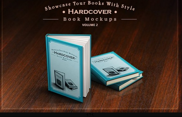 Hard Cover Book Mockup PSD