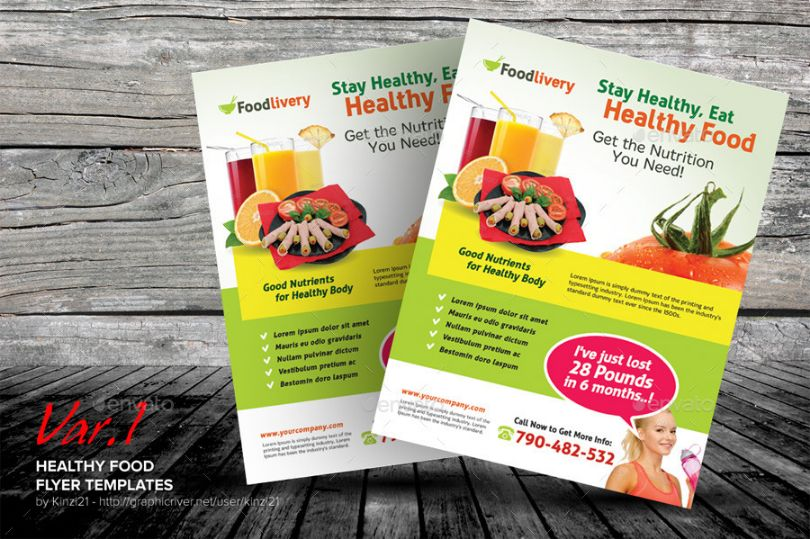 Healthy Food Flyer Template PSD