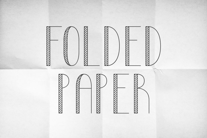 High Resolution Folded Paper Texture