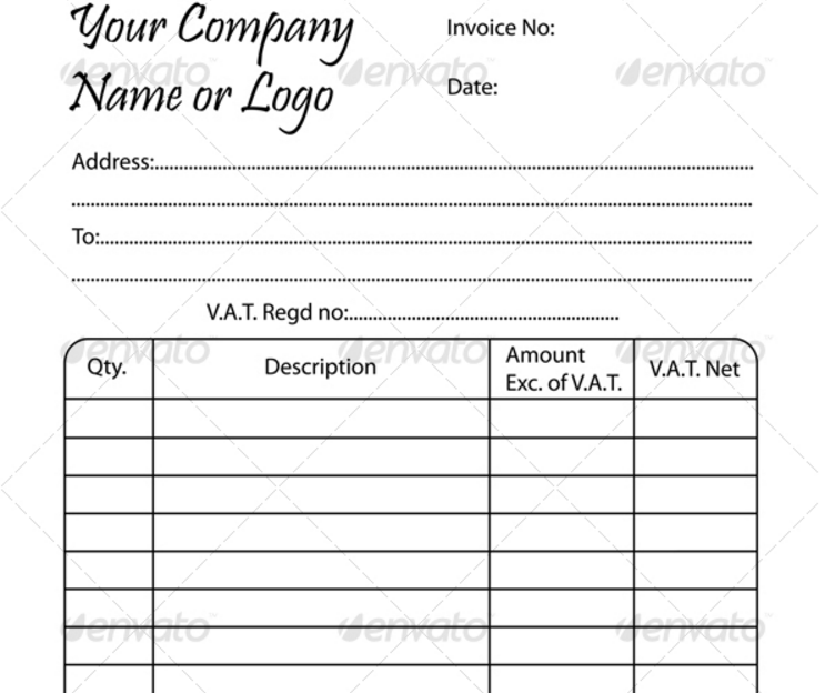 Blank Invoice Template Word PDF Excel and InDesign Format – Blank Invoice Template