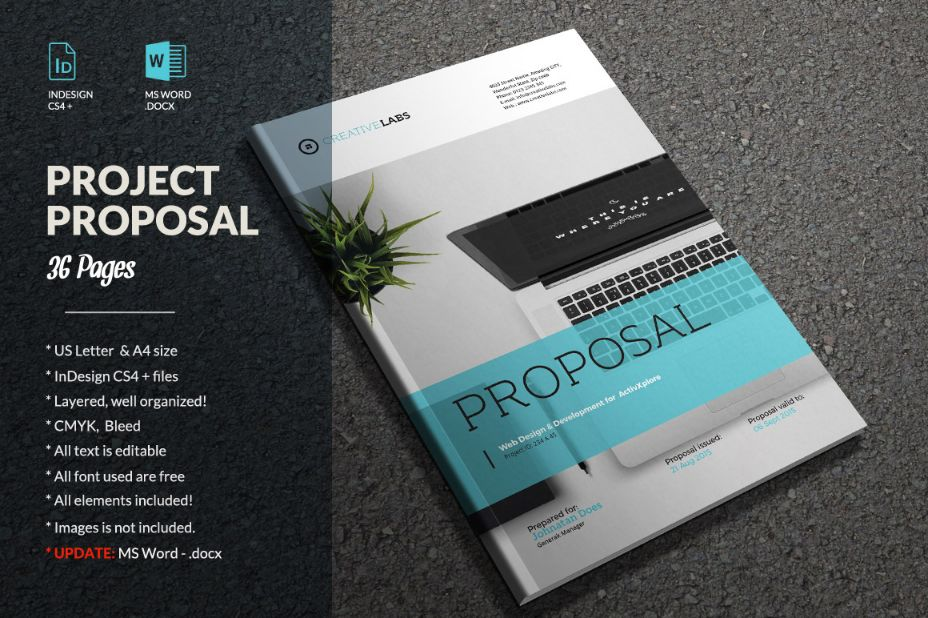 20 Project Proposal Template Word InDesign and PSD Format – Proposal Template for Word