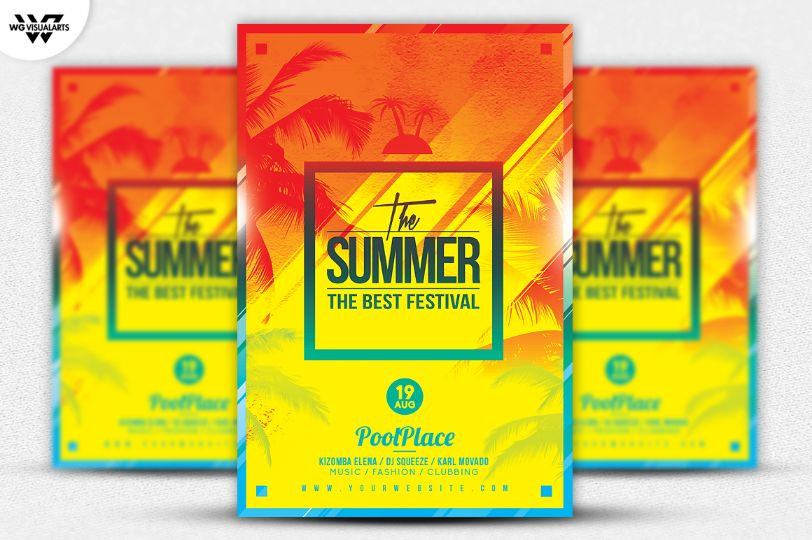 layered-beach-flyer-template