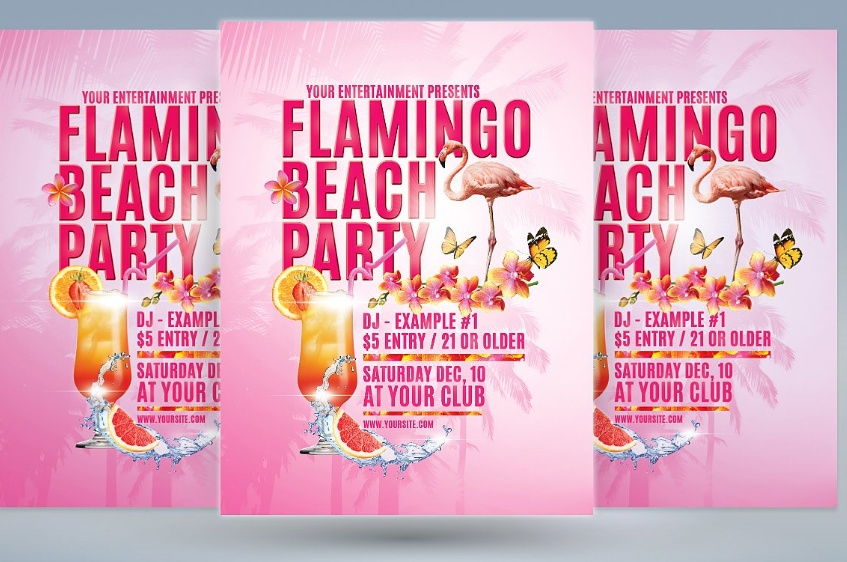 Layered Beach Party Template