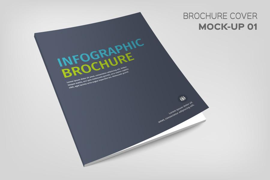 Layered Brochure Cover Mockup PSD