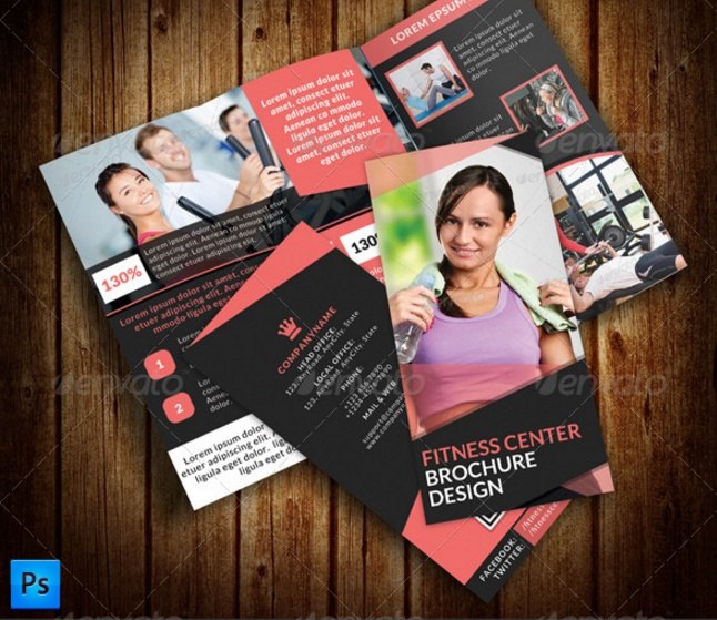 Fitness Brochure Template Word Indesign Eps And Psd Format