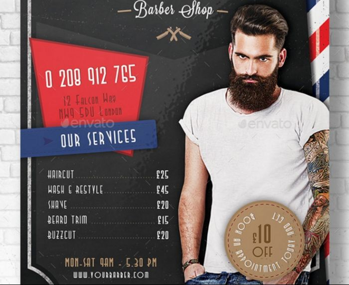 layered-hair-dresser-flyer-template