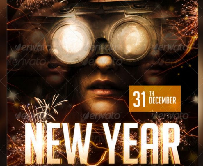 layered-new-year-flyer-template