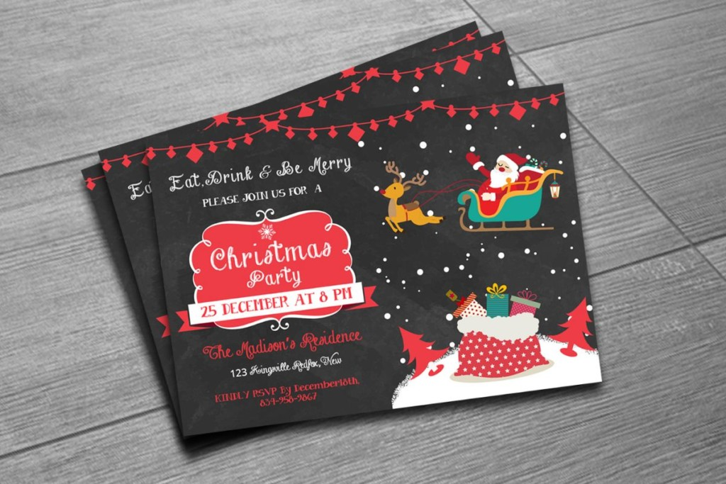layered-psd-christmas-invitation-template