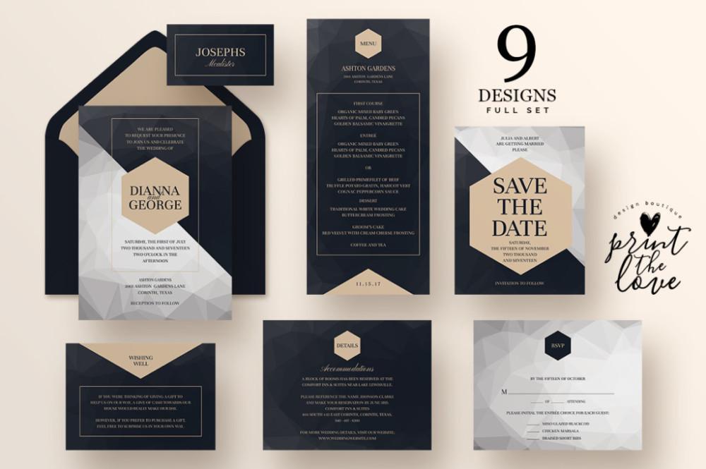 layered-wedding-invitation-suite-template