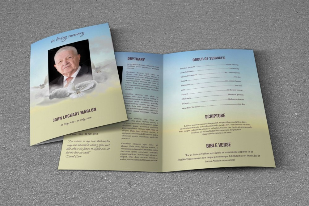 Funeral Brochure Template Word Indesign And Psd Format