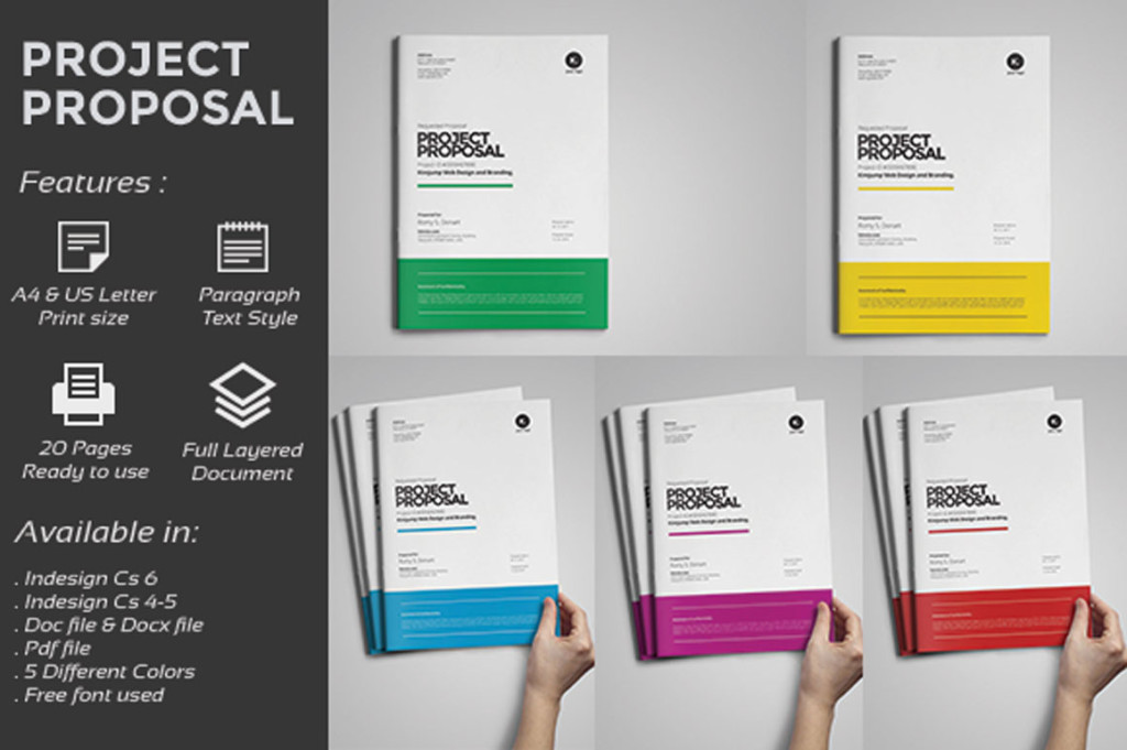 Design Proposal Template Word, Psd And Indesign Format - Graphic Cloud