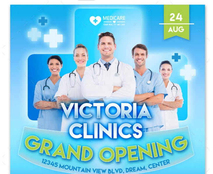 Medical Grand Opening Flyer Template PSD