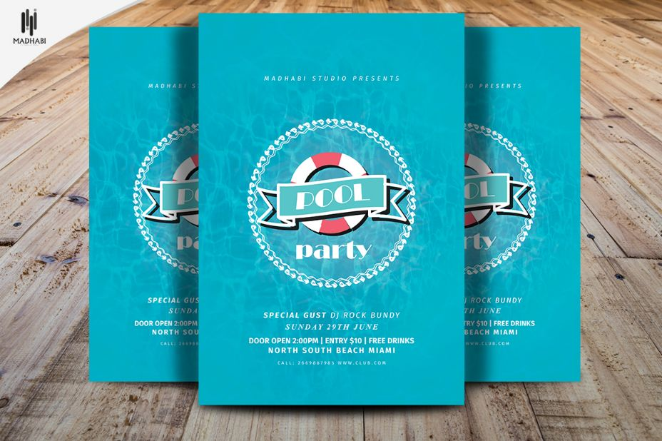 minimal-pool-party-invitation-template