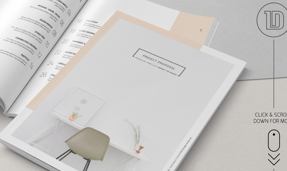 Minimalistic Agency Proposal Template InDesign