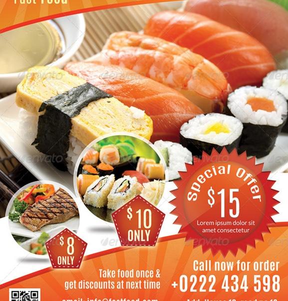 Modern Food Flyer Template PSD