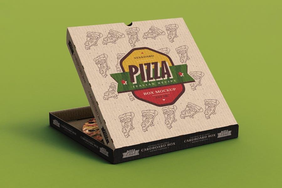 Pizza Box Branding Mockup