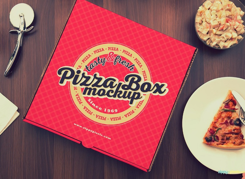Pizza Box Mockup PSD