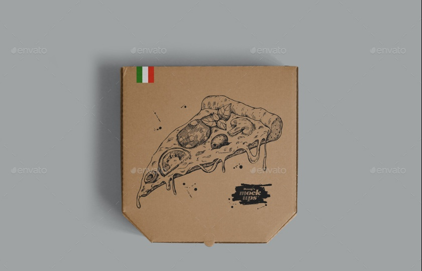 Pizza Packaging Box Mockup