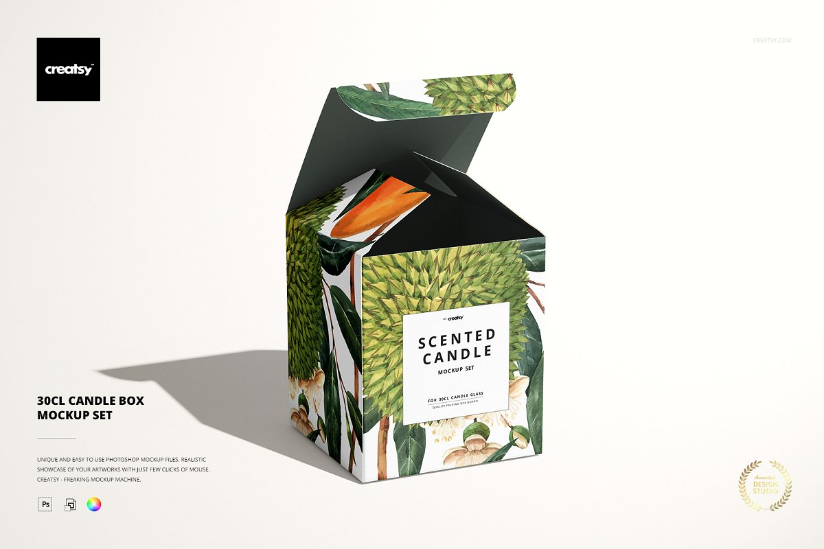 Scented Candle Box Mockups