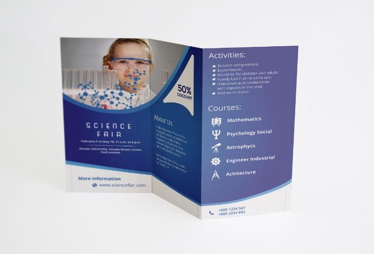 Science Fair Brochure Template