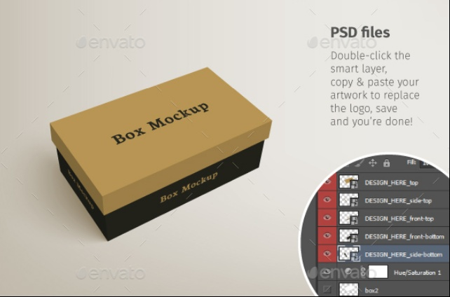 Shoe Packaging Mockup PSD