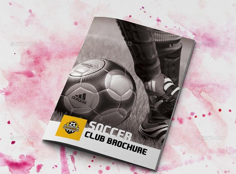 Soccer Club Brochure Mockup PSD