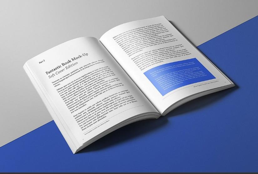 Soft Cover Book Mockup PSD