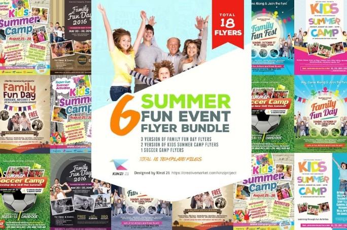Summer Events Flyer Template PSD