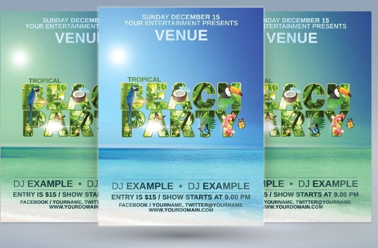 Tropical Beach Party Template