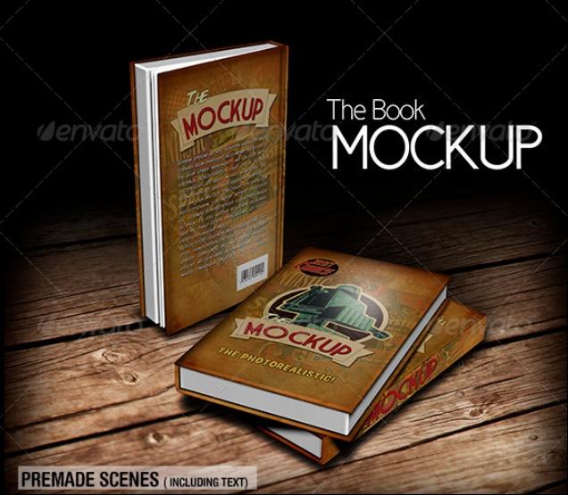 Vintage Book Mockup