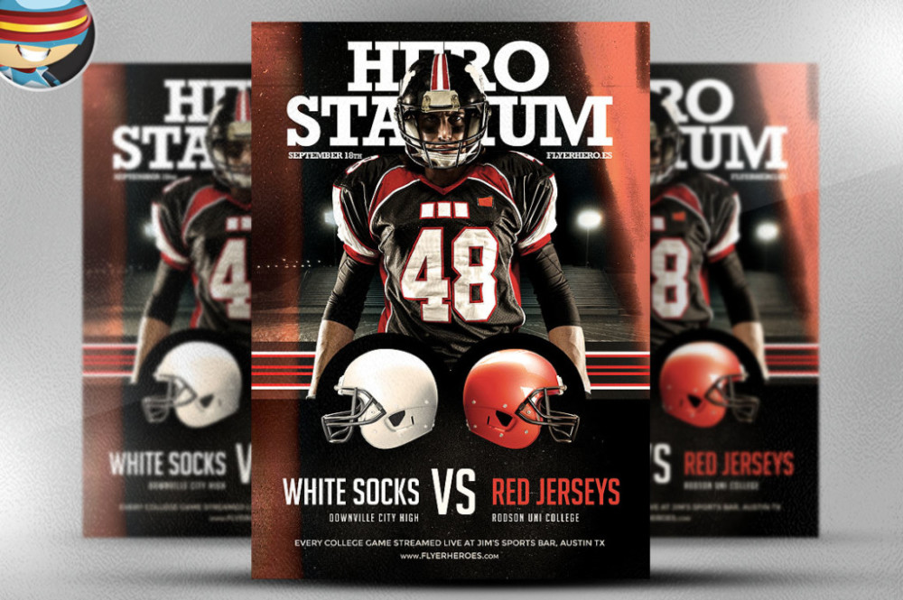 Football/Soccer Leaflet Flyer Templates american-football-flyer-template