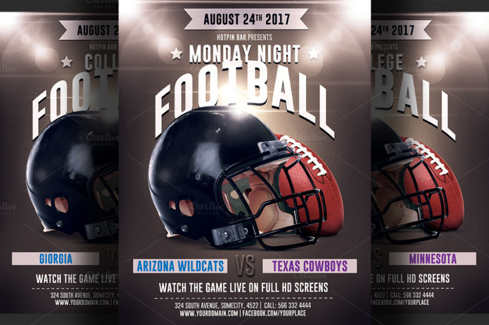 american-football-game-flyer-templates