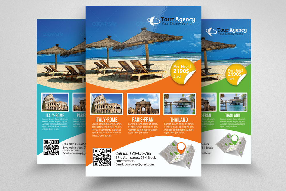 travel brochure template psd free download