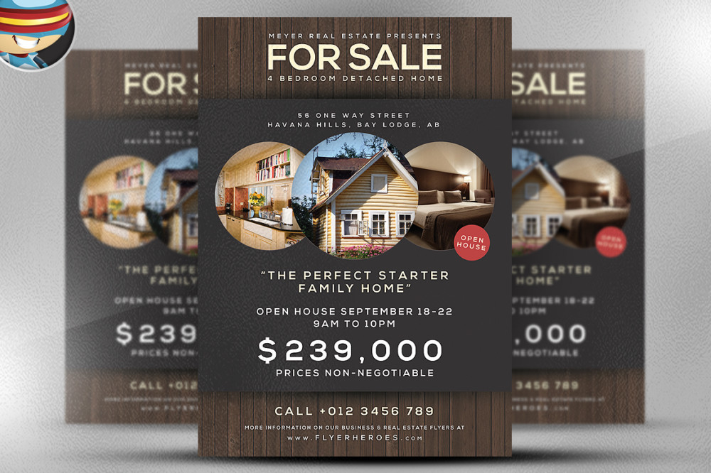 25 Real Estate Flyer PSD Templates Graphic Cloud – Home Sale Flyer Template