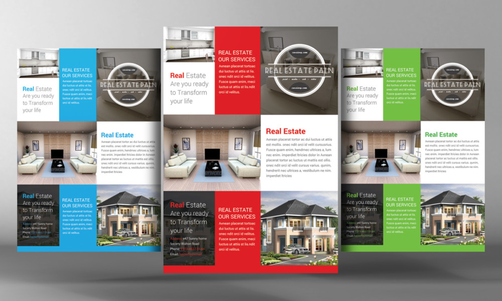 25 real estate flyer psd templates graphic cloud for Real estate feature sheet template free