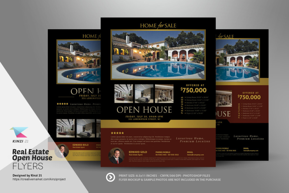 15 Custom Real Estate Open House Flyer Templates Graphic Cloud – Free Open House Flyers
