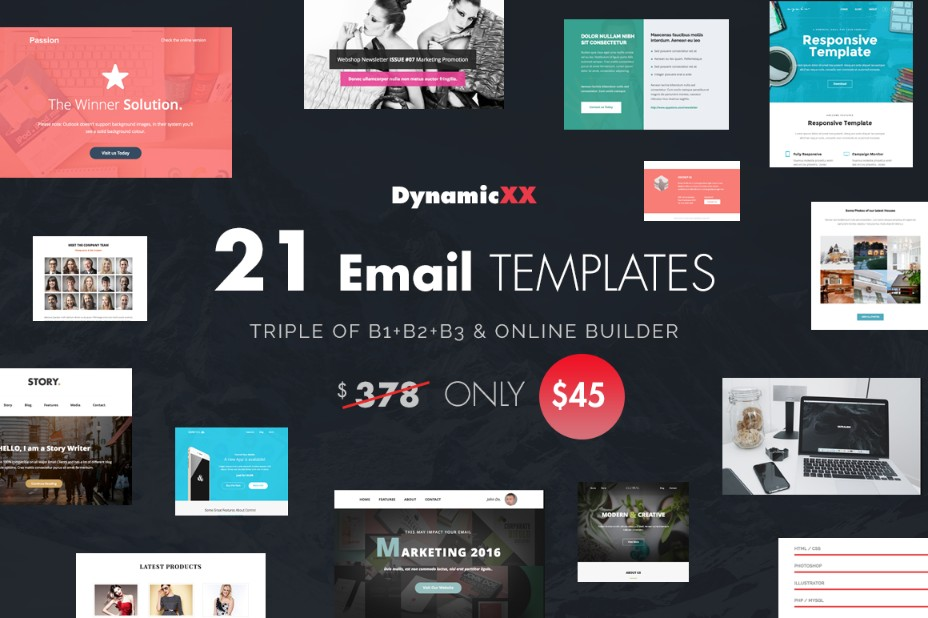 21-email-templates-bundle-pack