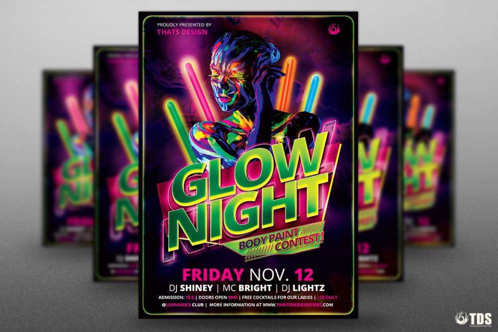 15 Party and Night Club PSD Flyer Templates Graphic Cloud – Club Flyer Background