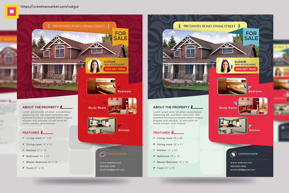 15 Custom Real Estate Open House Flyer Templates Graphic Cloud – Open House Flyers