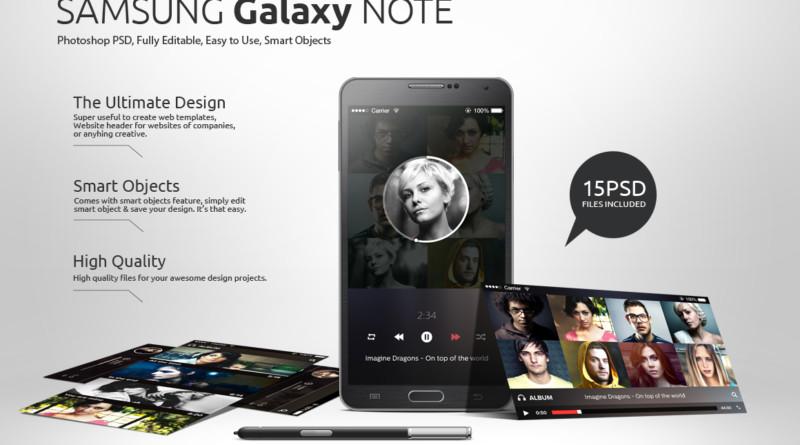 Iphone & Android Smartphone Mockup PSD samsung-smartphone-mockups