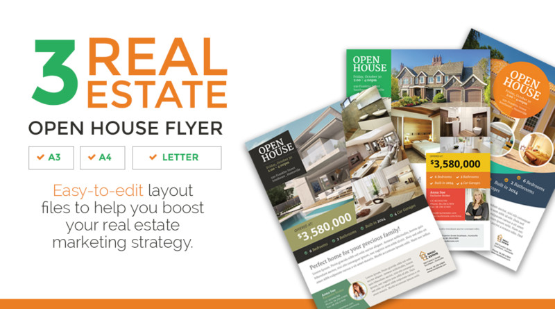 15 Custom Real Estate Open House Flyer Templates Graphic Cloud – House Flyer Template