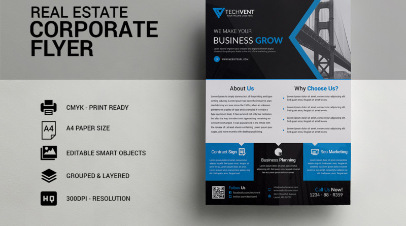 25 Real Estate Flyer PSD Templates Graphic Cloud – Marketing Flyer