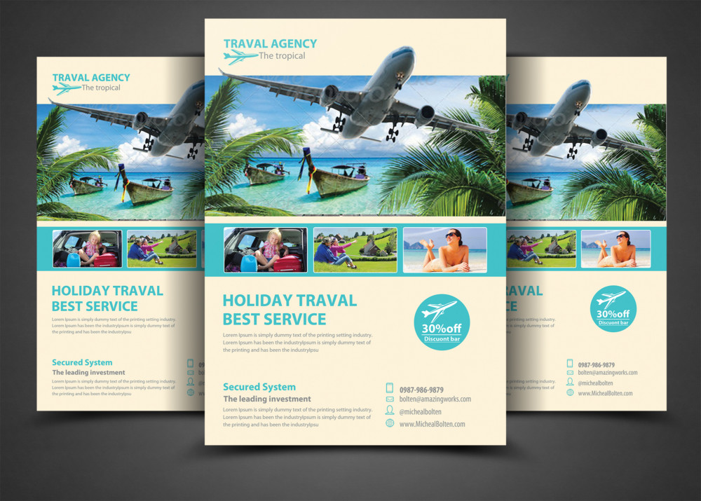 Travel & Tourism Flyer/Poster Templates flyer-template