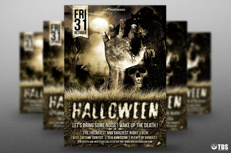 a4-size-halloween-party-flyer-template