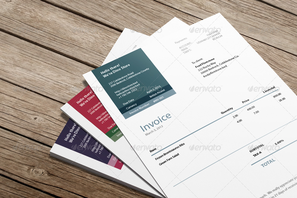 download invoice template eps | rabitah, Invoice templates
