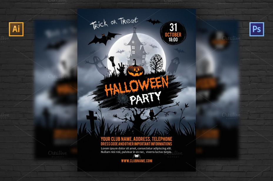 ai-and-psd-halloween-flyer-template