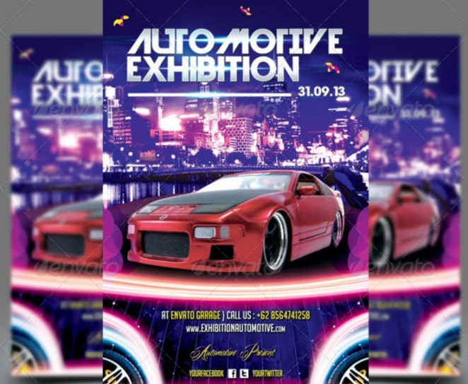 automotive-exhibition-flyer-psd-template