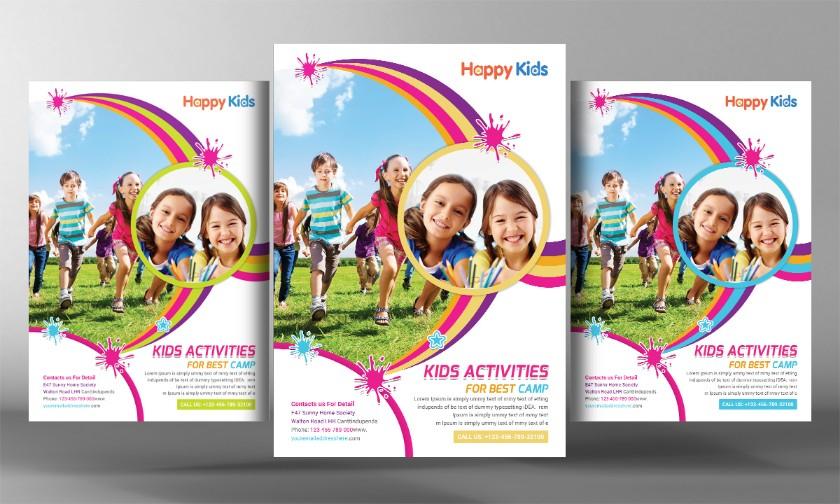 children-summer-camp-psd-flyer
