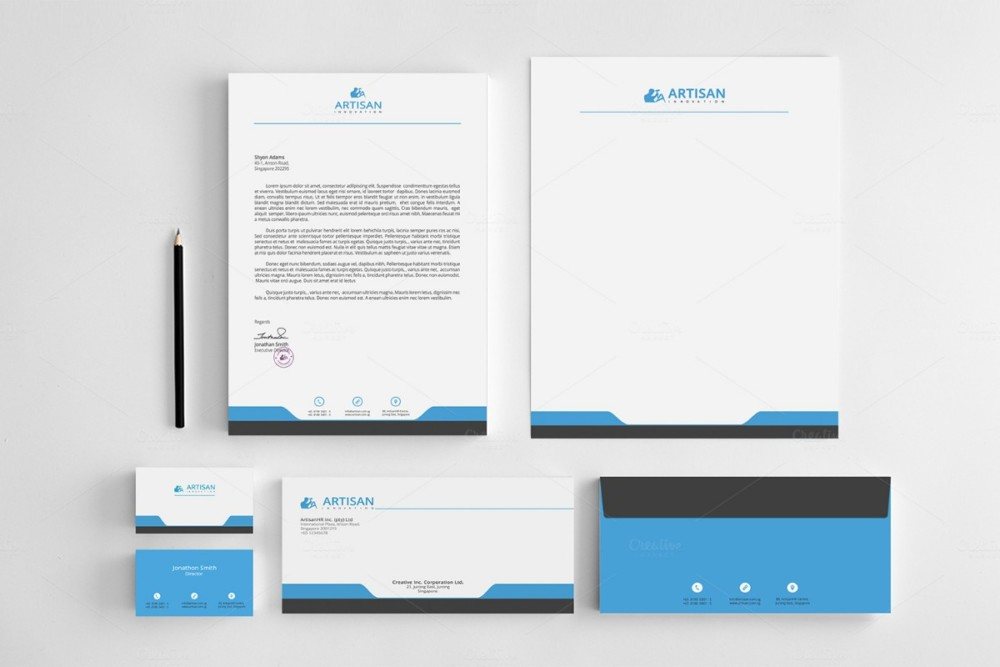 Clean Corporate Identity Template  Corporate Word Templates