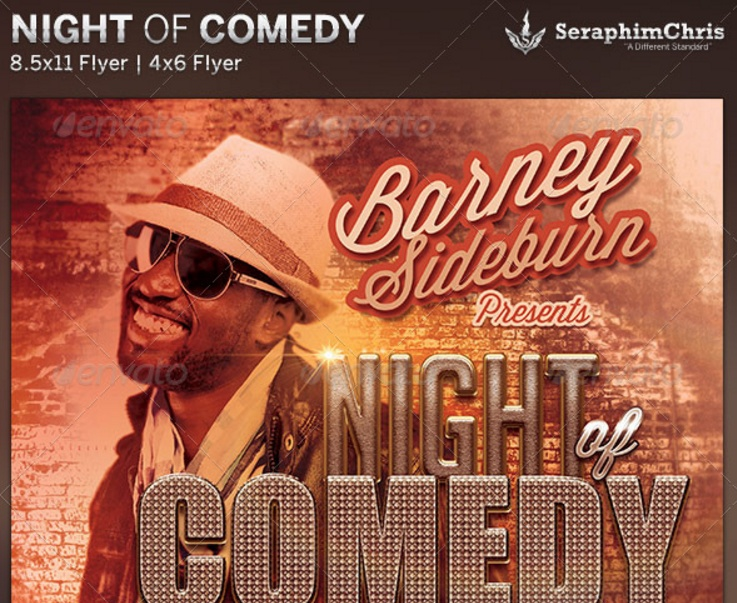 comedy-night-flyer-template